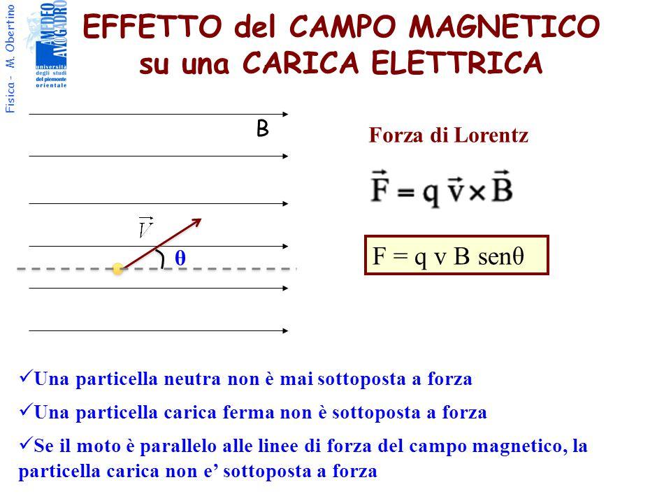 EFFETTO del CAMPO MAGNETICO su una CARICA ELETTRICA