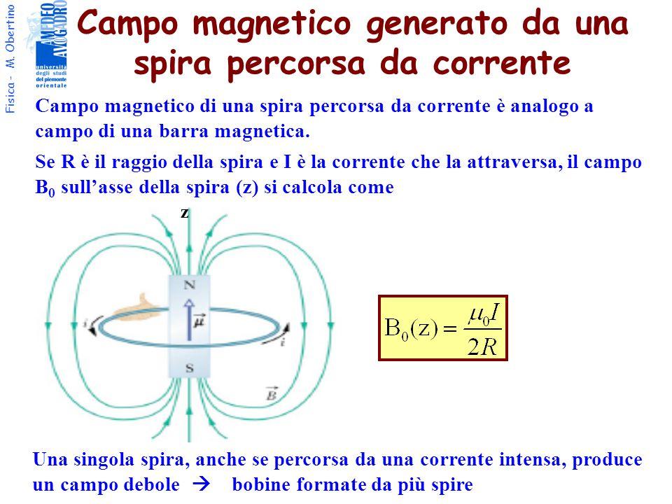 Campo magnetico generato da una spira percorsa da corrente