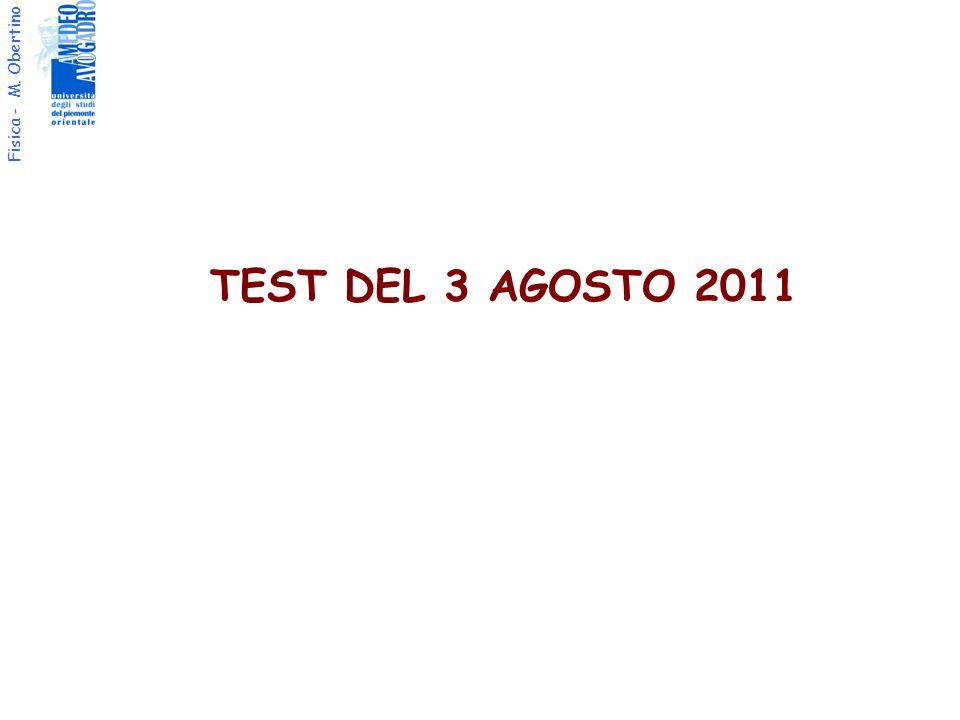 TEST DEL 3 AGOSTO 2011