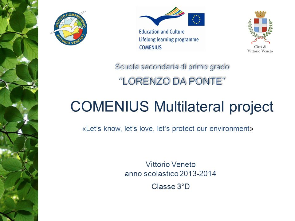 COMENIUS Multilateral project