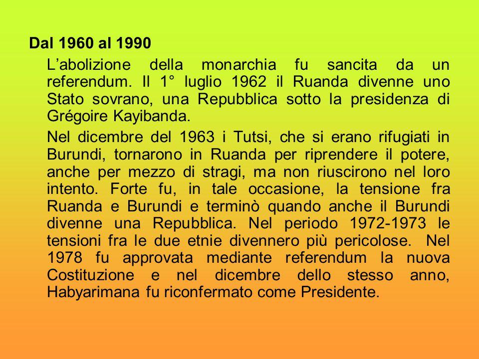 Dal 1960 al 1990