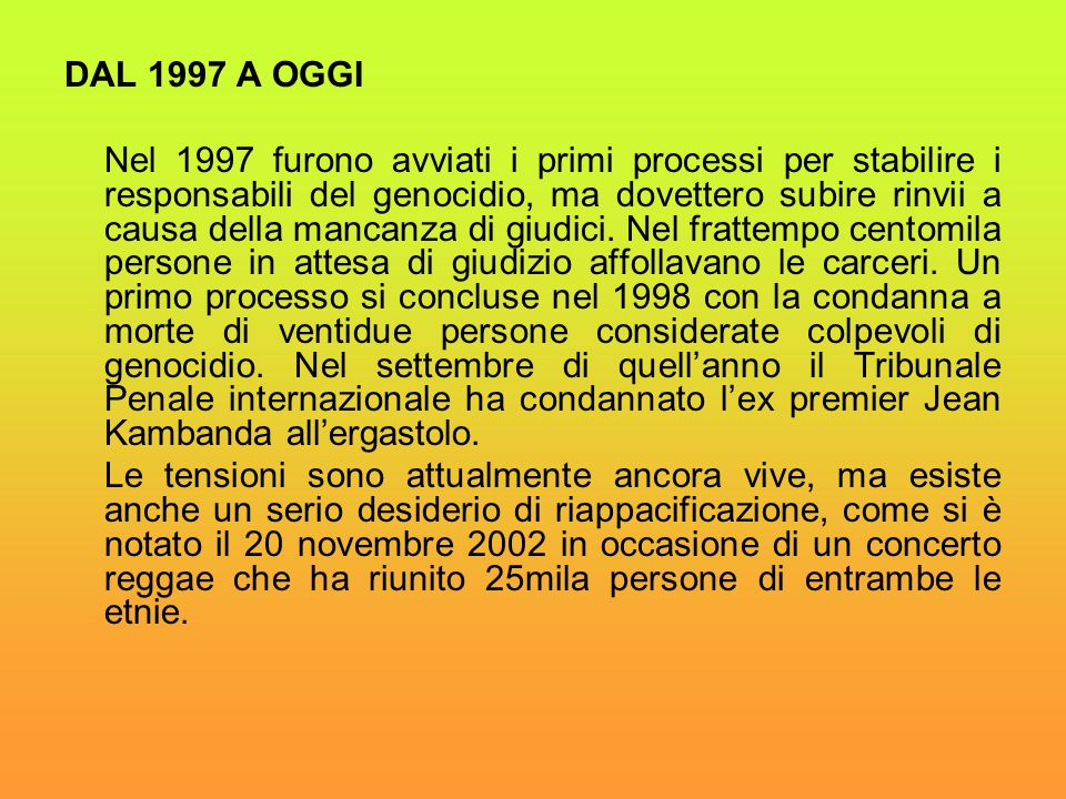 DAL 1997 A OGGI