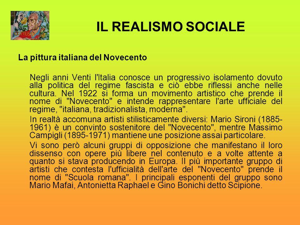 IL REALISMO SOCIALE La pittura italiana del Novecento