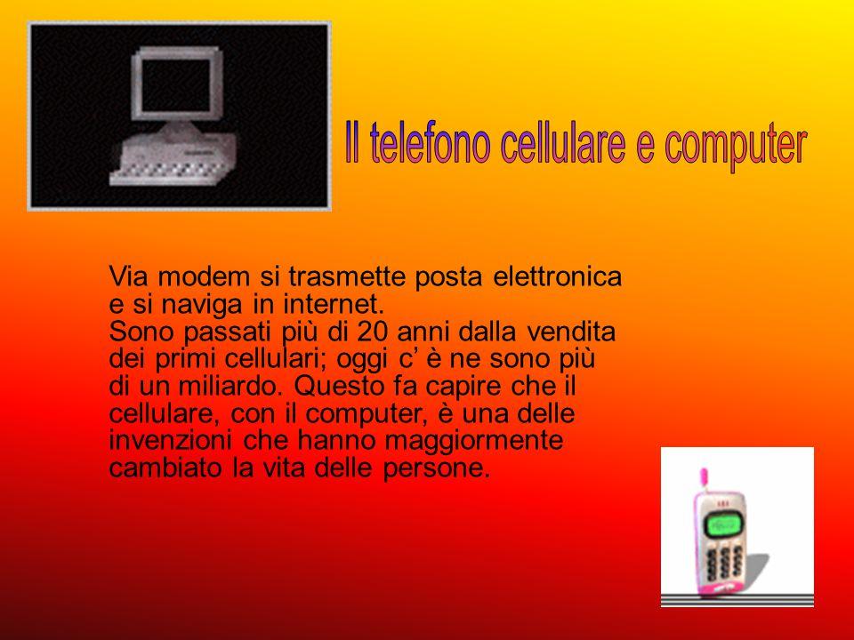 Il telefono cellulare e computer