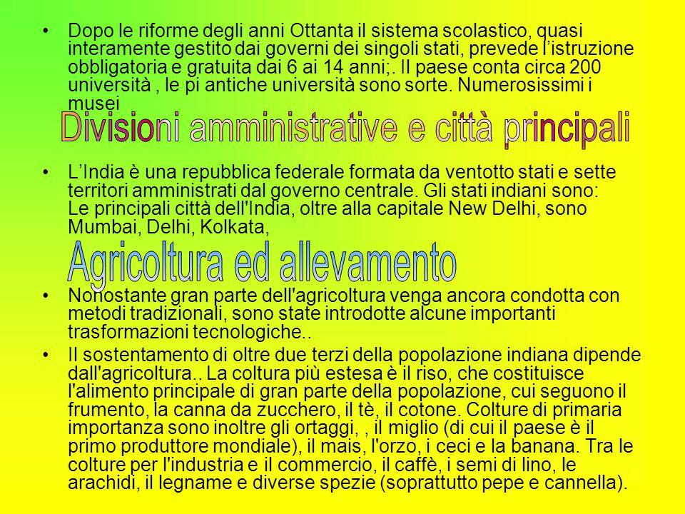 Divisioni amministrative e città principali