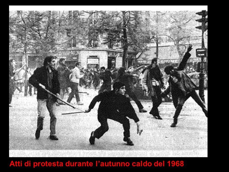 Atti di protesta durante l'autunno caldo del 1968
