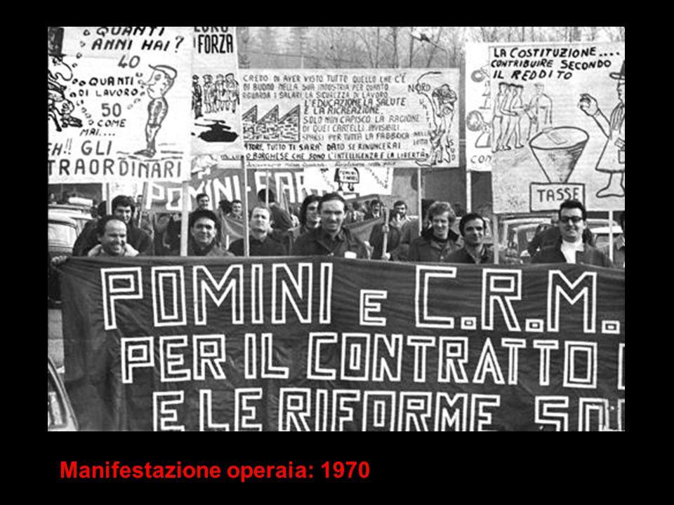 Manifestazione operaia: 1970
