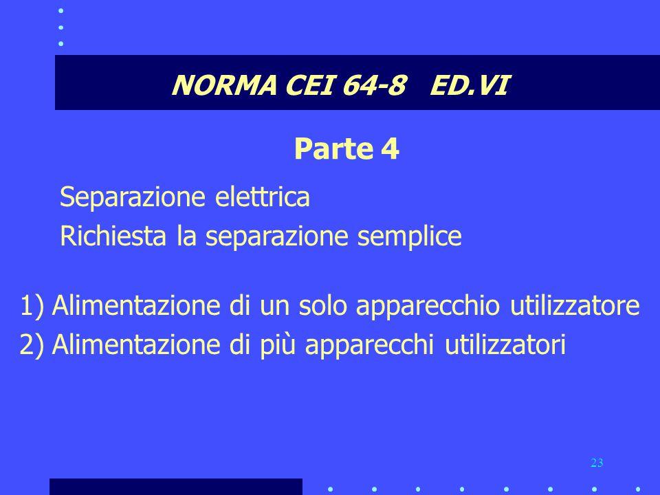 Parte 4 NORMA CEI 64-8 ED.VI Separazione elettrica