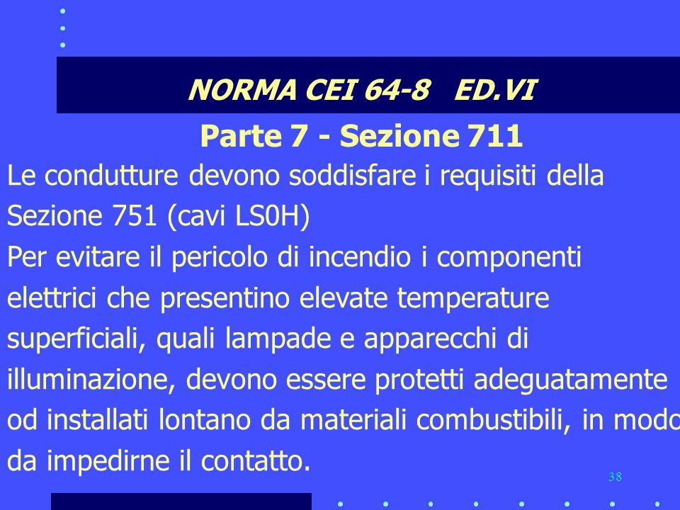 Parte 7 - Sezione 711 NORMA CEI 64-8 ED.VI