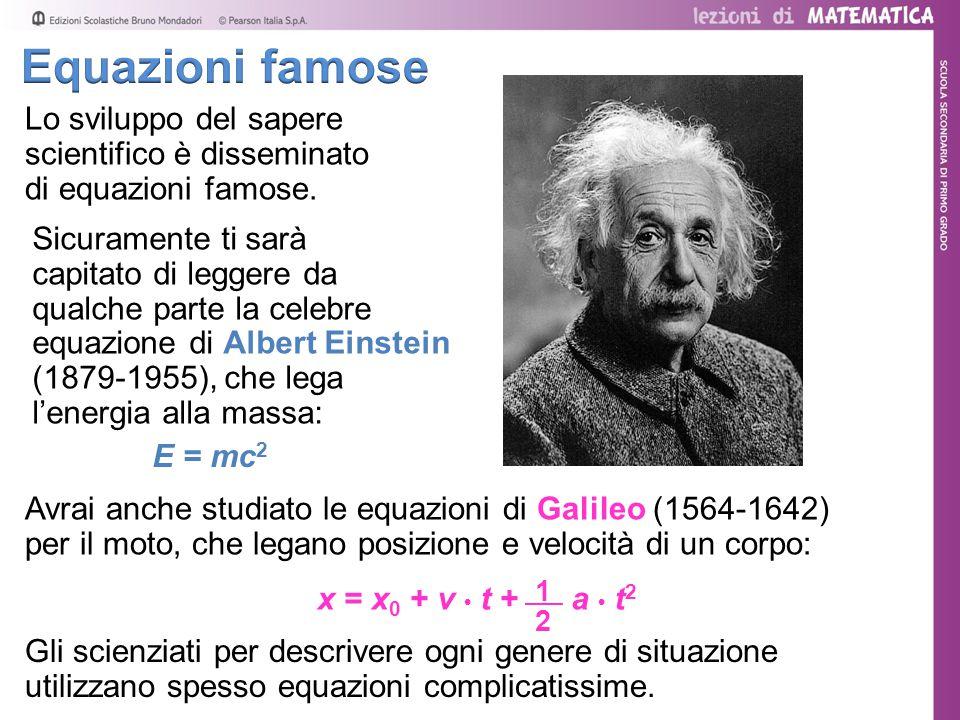 Equazioni famose Lo sviluppo del sapere scientifico è disseminato