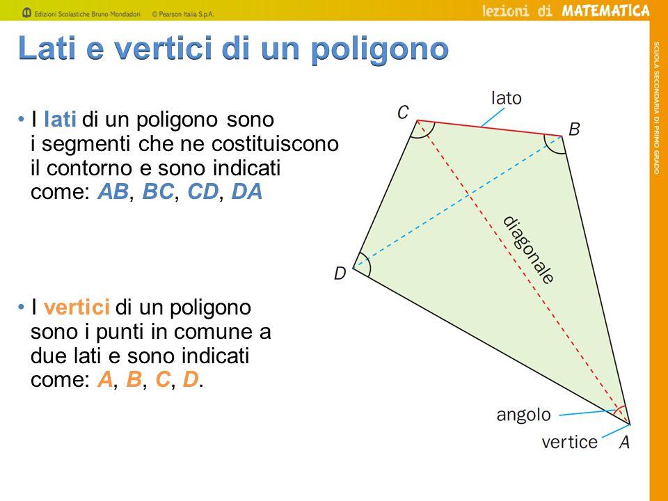 Lati e vertici di un poligono