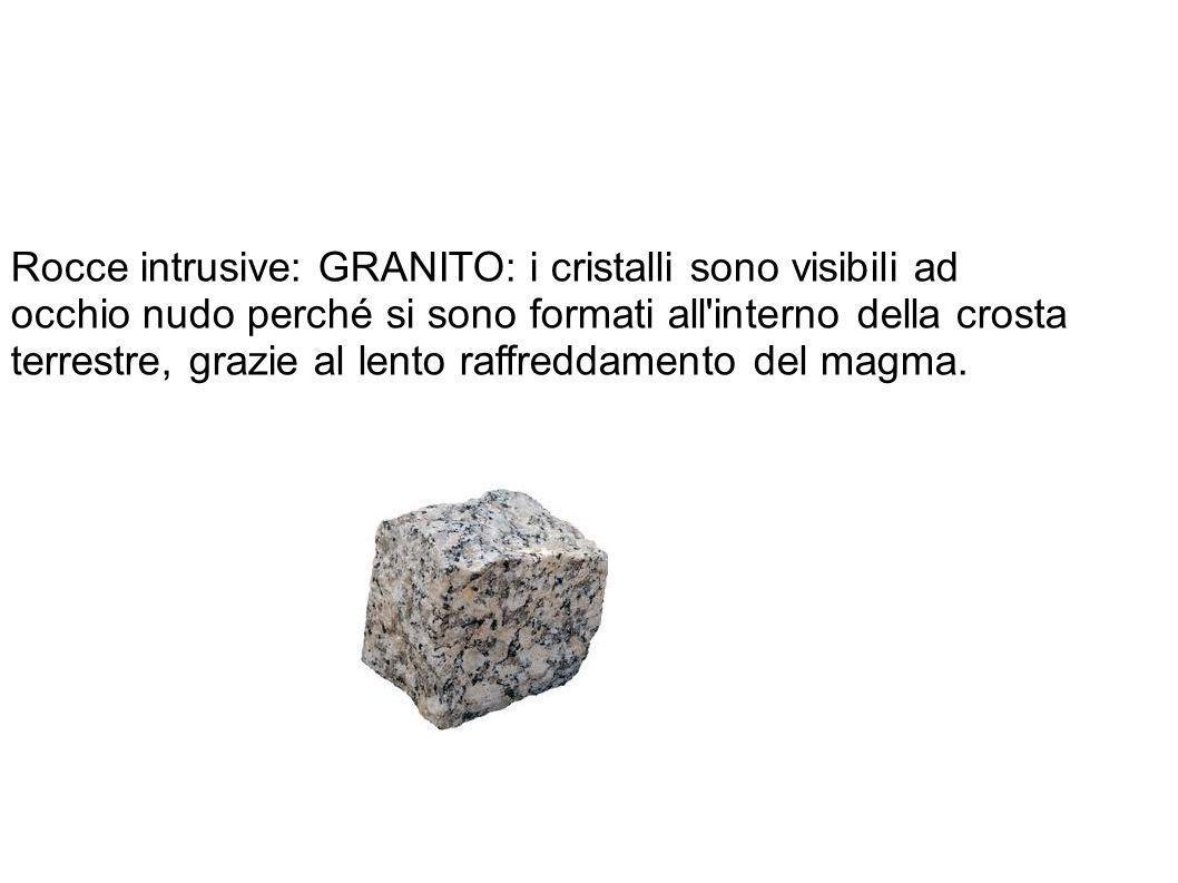 Rocce intrusive: GRANITO: i cristalli sono visibili ad