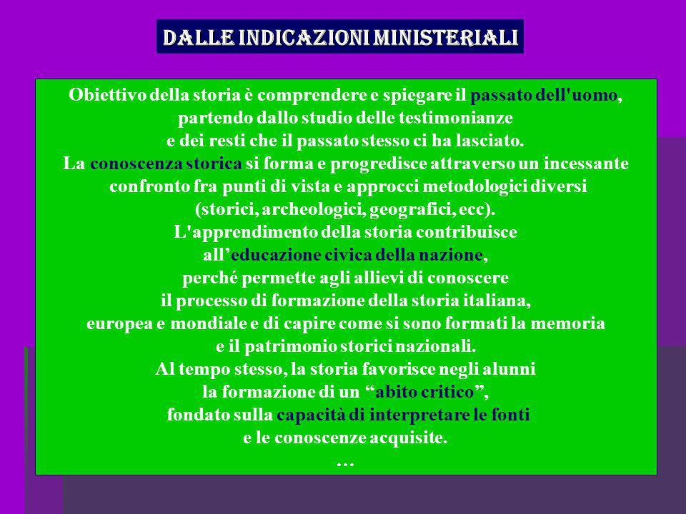 Dalle indicazioni ministeriali