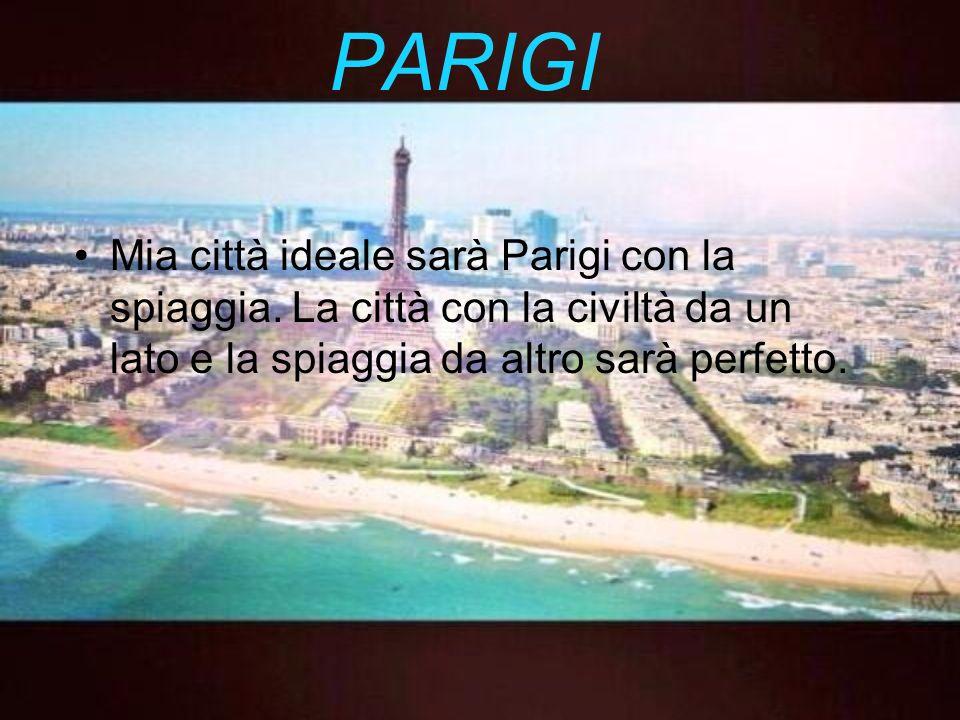 PARIGI Mia città ideale sarà Parigi con la spiaggia.