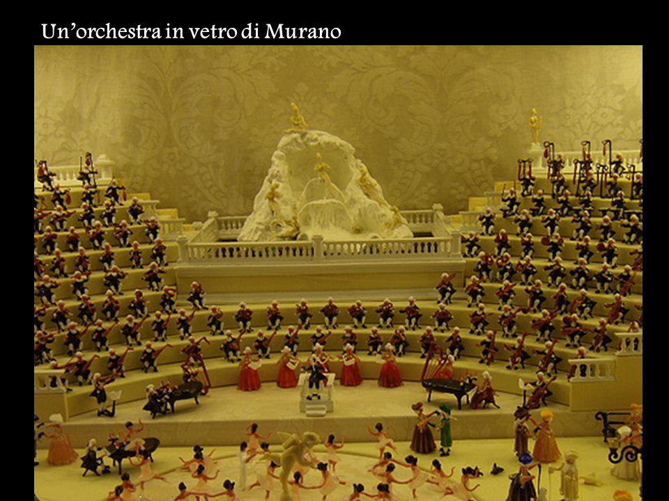 Un'orchestra in vetro di Murano