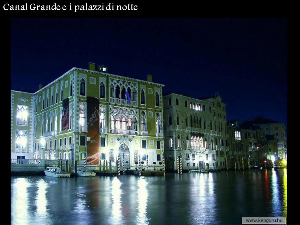 Canal Grande e i palazzi di notte