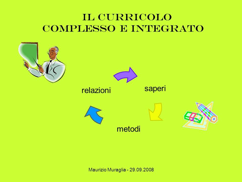il curricolo complesso e integrato