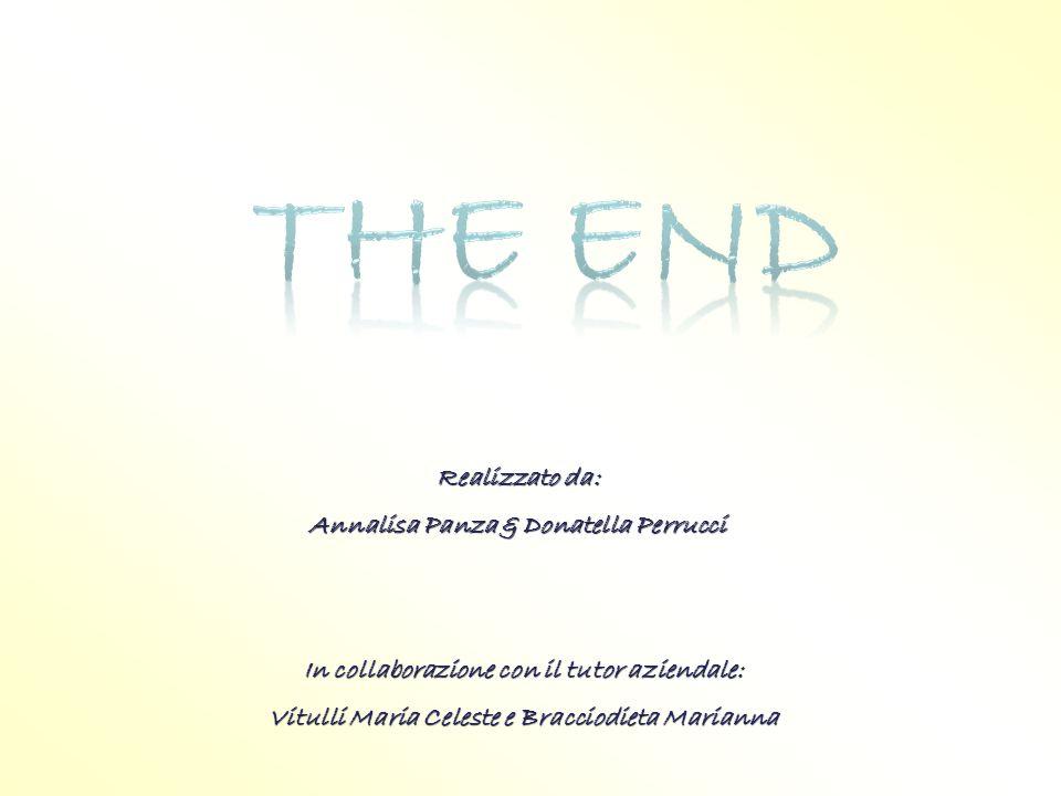 The end Realizzato da: Annalisa Panza & Donatella Perrucci