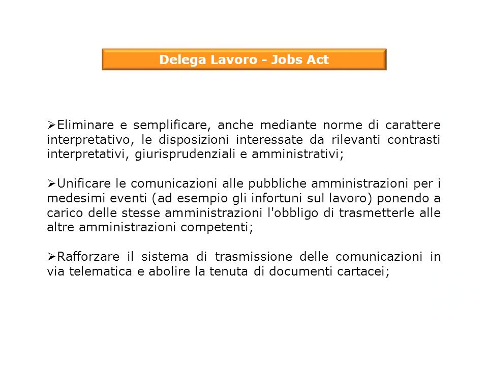Delega Lavoro - Jobs Act