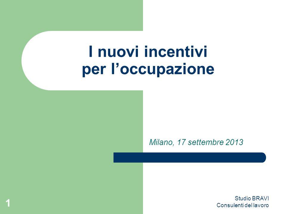 I nuovi incentivi per l'occupazione