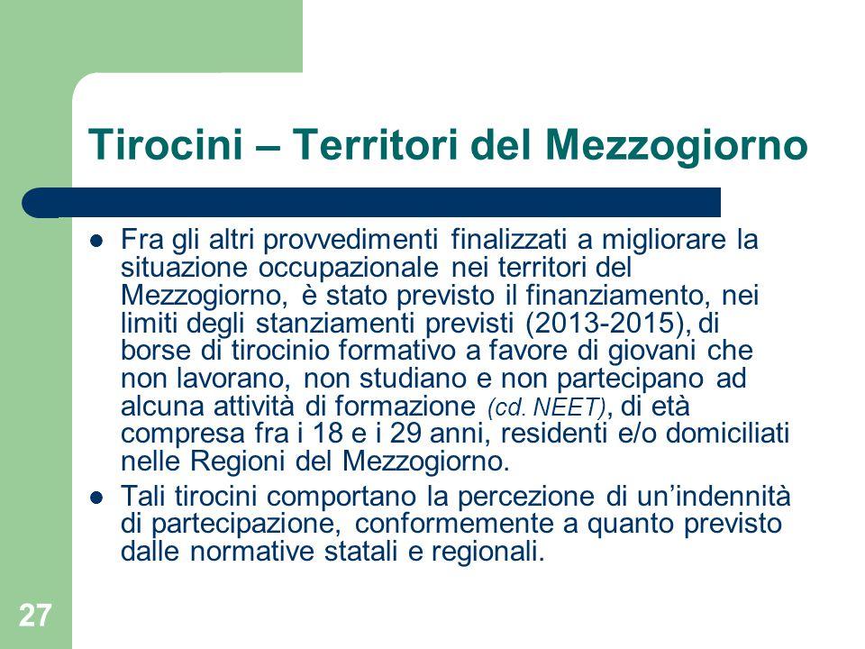 Tirocini – Territori del Mezzogiorno