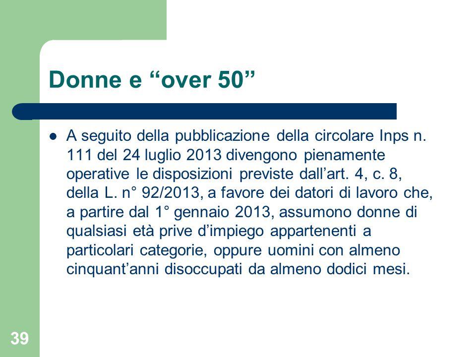 Donne e over 50