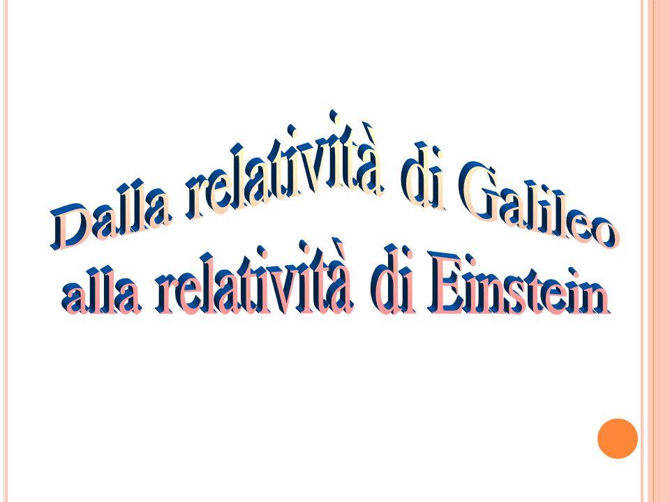 Dalla relatività di Galileo alla relatività di Einstein