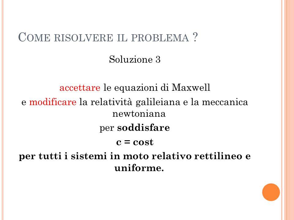 Come risolvere il problema