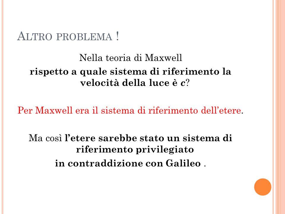 Altro problema !