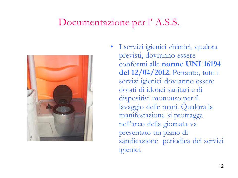 Documentazione per l' A.S.S.