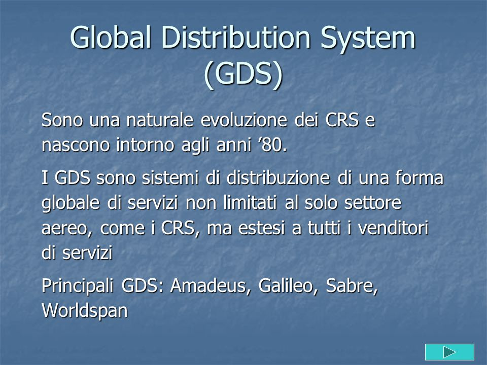 Global Distribution System (GDS)