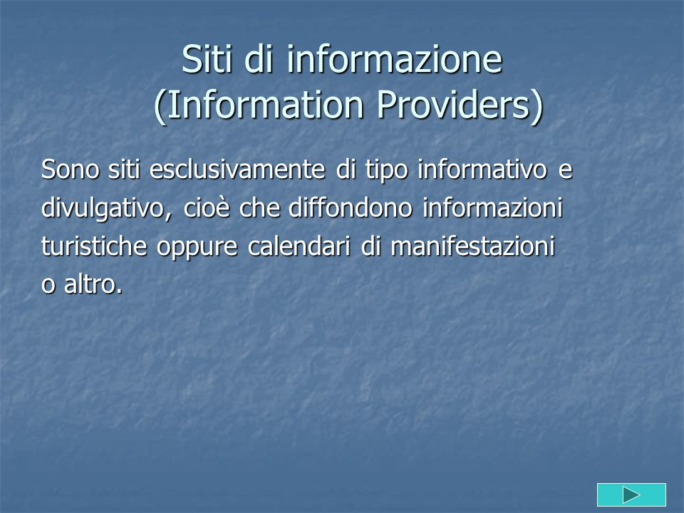 Siti di informazione (Information Providers)