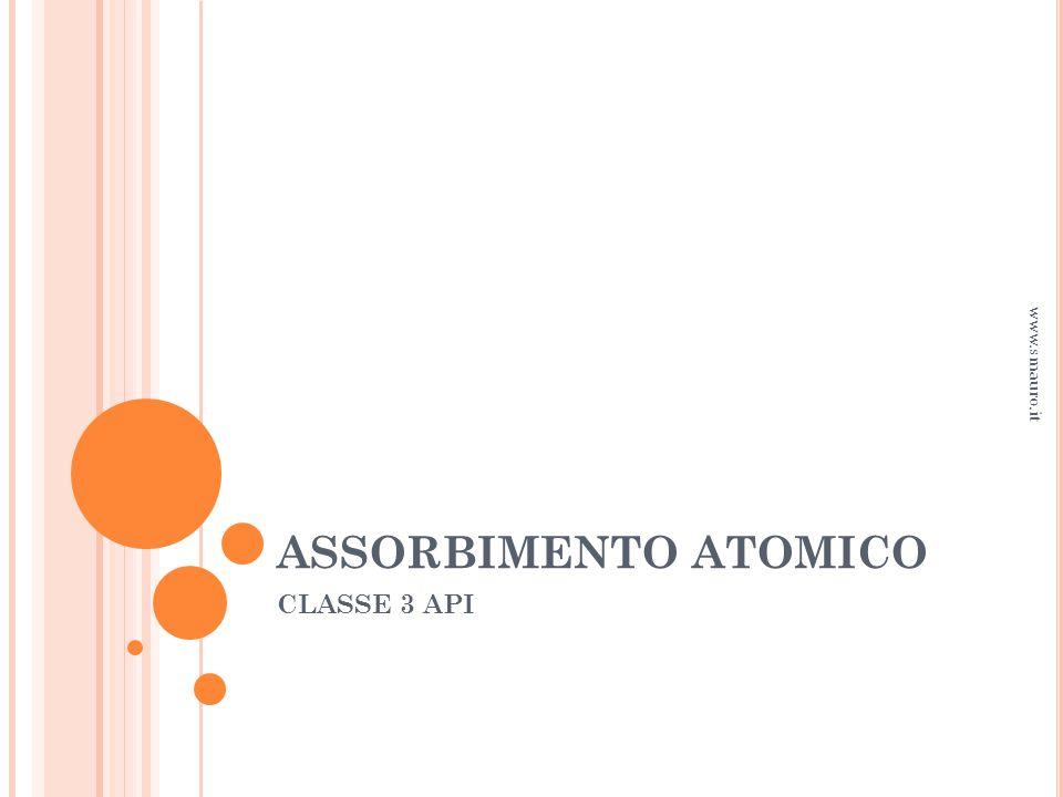 ASSORBIMENTO ATOMICO www.smauro.it CLASSE 3 API