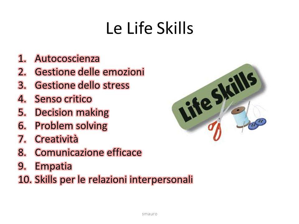 Le Life Skills Autocoscienza Gestione delle emozioni