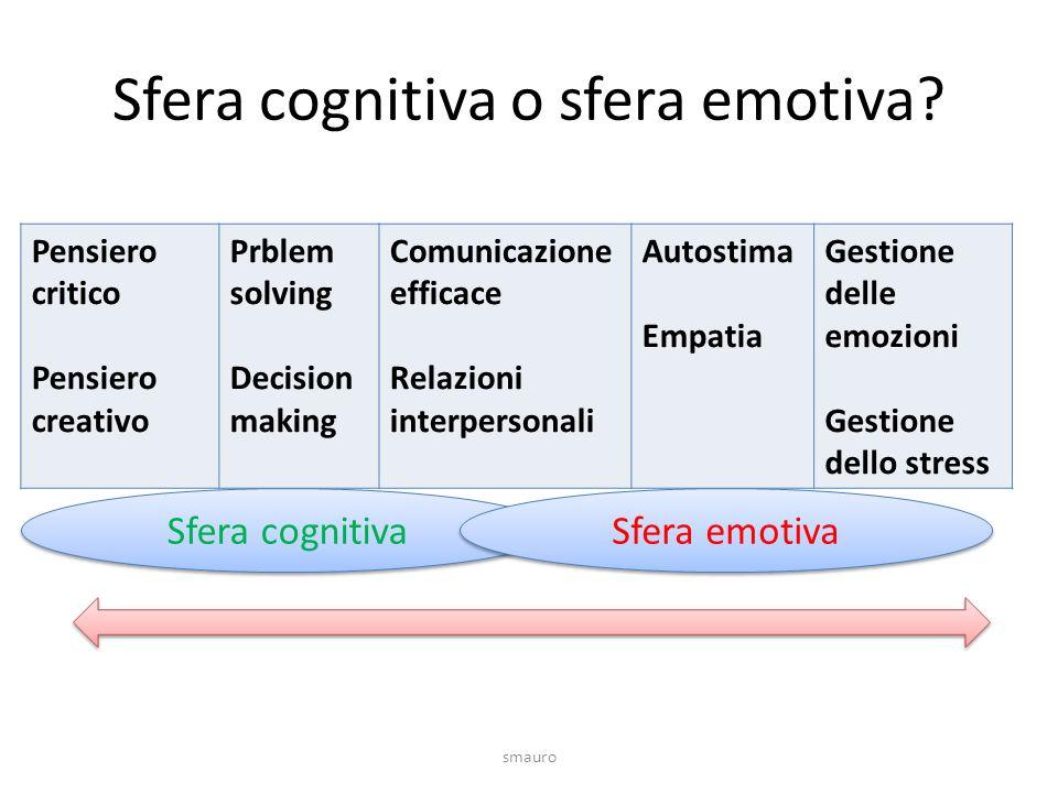 Sfera cognitiva o sfera emotiva