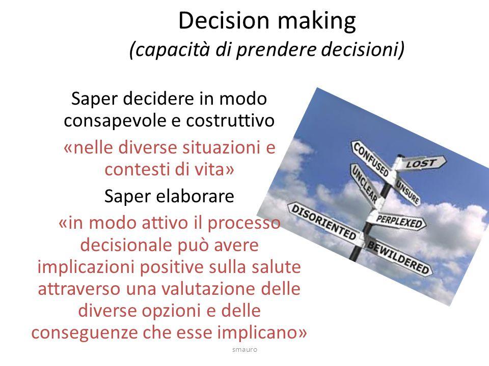 Decision making (capacità di prendere decisioni)