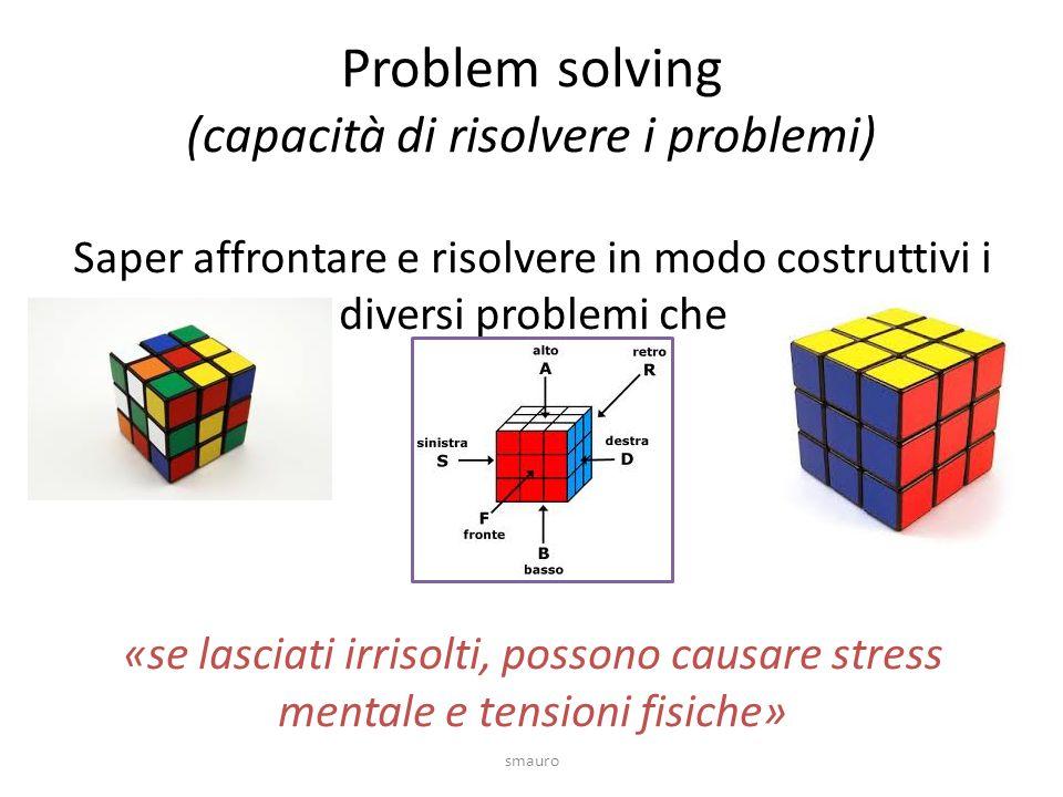 Problem solving (capacità di risolvere i problemi)