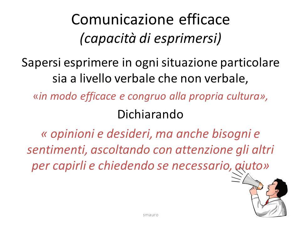 Comunicazione efficace (capacità di esprimersi)