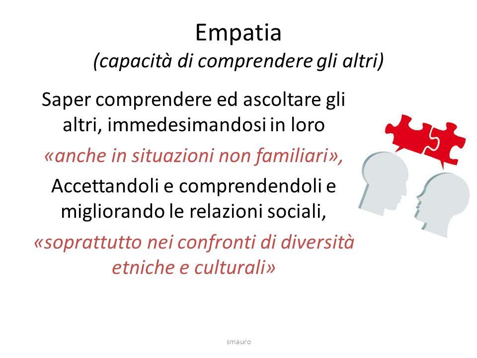 Empatia (capacità di comprendere gli altri)