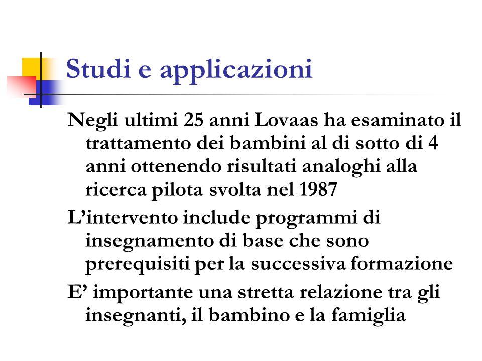 Studi e applicazioni