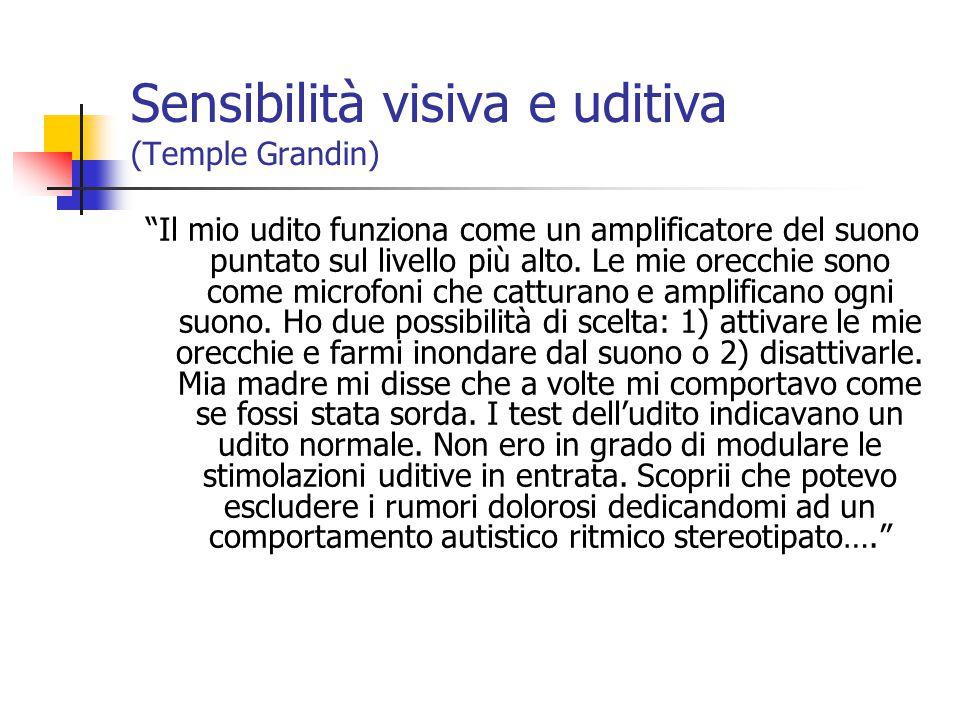 Sensibilità visiva e uditiva (Temple Grandin)