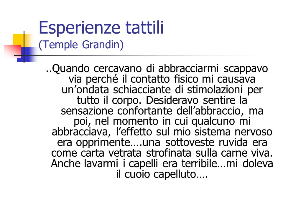 Esperienze tattili (Temple Grandin)