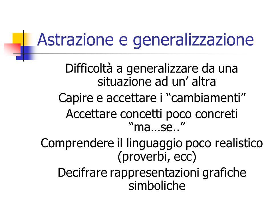 Astrazione e generalizzazione
