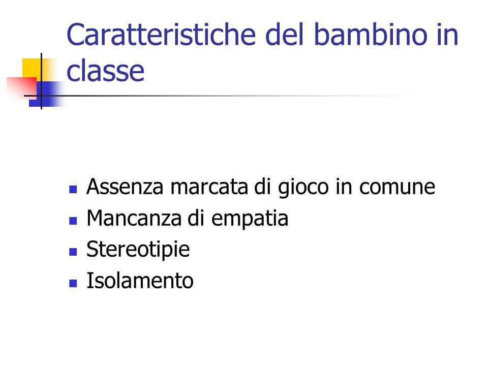 Caratteristiche del bambino in classe