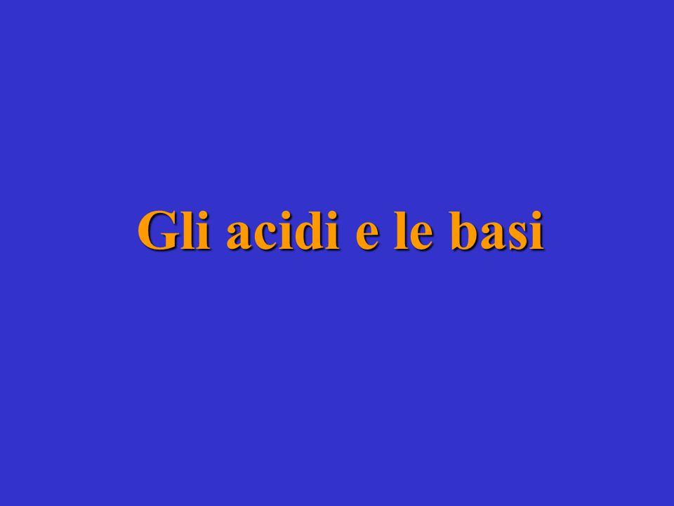 Gli acidi e le basi