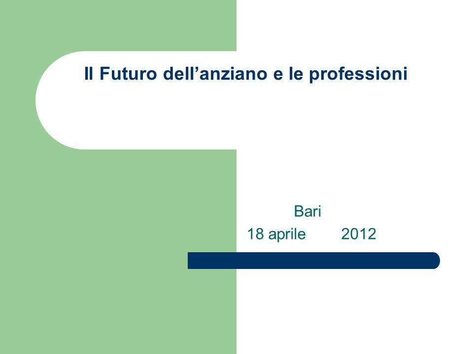 Il Futuro dell'anziano e le professioni