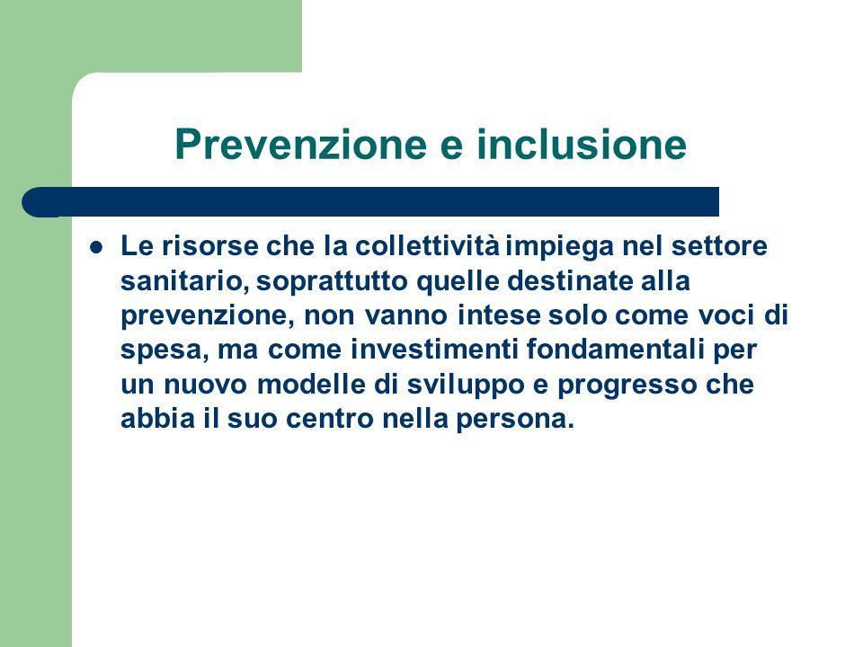Prevenzione e inclusione