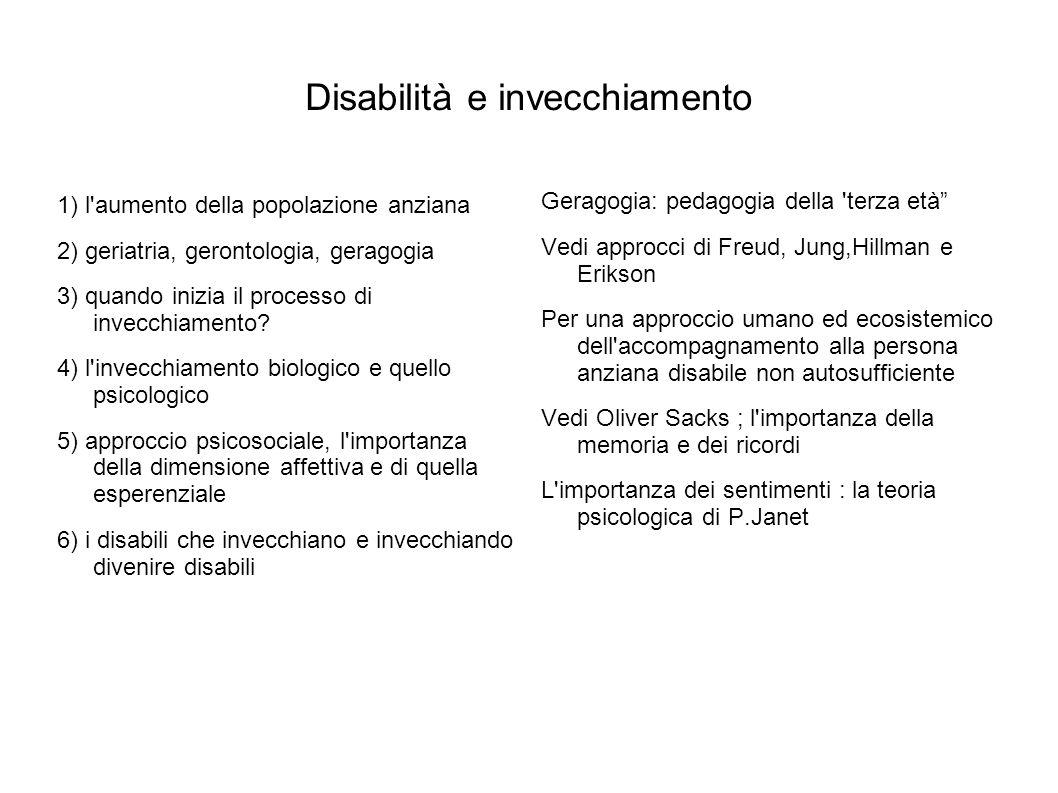 Disabilità e invecchiamento