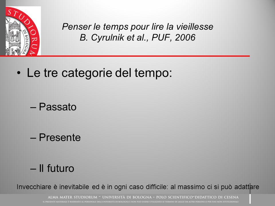 Penser le temps pour lire la vieillesse B. Cyrulnik et al., PUF, 2006