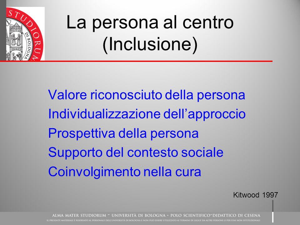 La persona al centro (Inclusione)